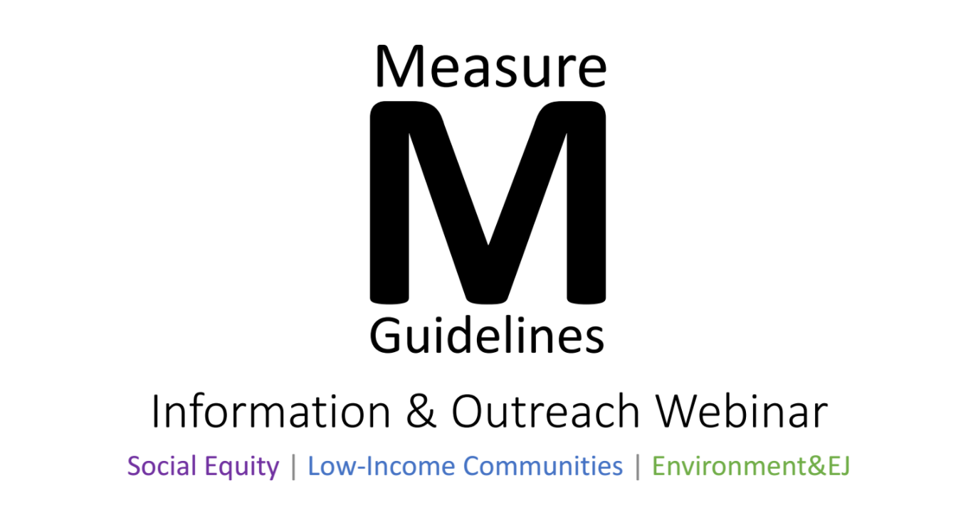 Webinar: Social Equity and Environmental Feedback on the Draft Measure M Guidelines