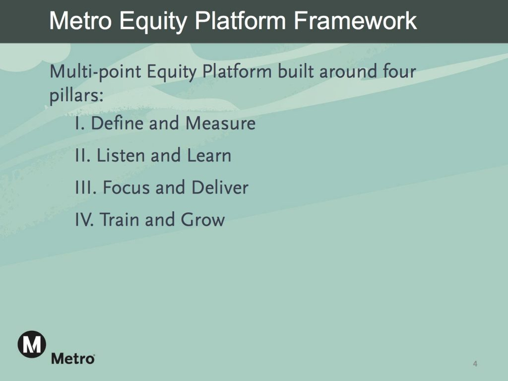 Metro Board Approves the Development of an Equity Platform Framework