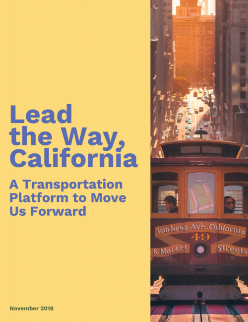 Lead the Way California, A Transportation Platform to Move Us Forward