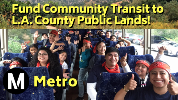 Fund Community Transit to L.A. County Public Lands!
